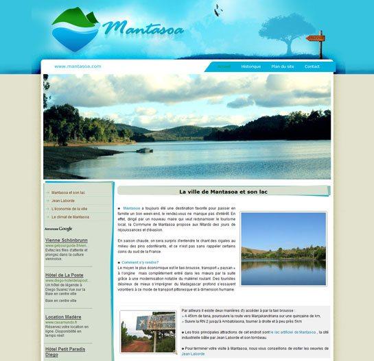 Site de la ville Mantasoa à Madagascar