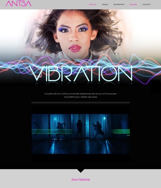 Biographie et single Vibration