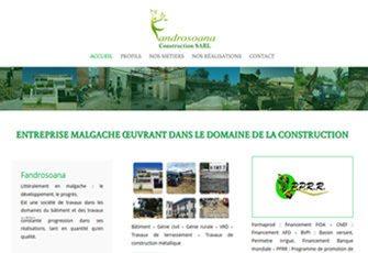 FANDROSOANA entreprise malgache œuvrant dans le domaine de la construction à Madagascar