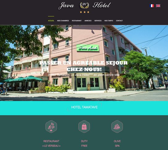 Java Hôtel Tamatave pour vos séjours d'affaires ou vacances à Madagascar