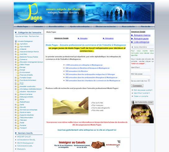 Pages jaunes Madagascar annuaire - Mada Pages - Annuaire professionnel du commerce et de l'industrie