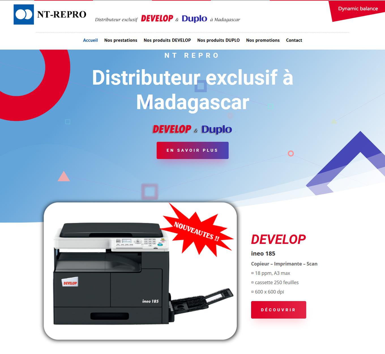 Photocopieur Madagascar consommables NT Repro Develop importateur distributeur duplicopieur